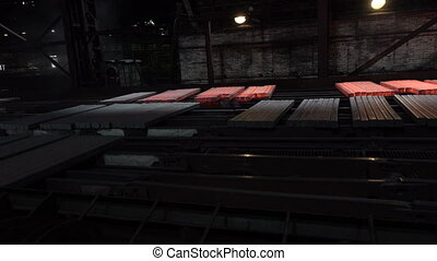 Cools the workpiece after rolling 3 - Stages of the steel...