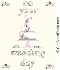 wedding day - a vector illustration in eps 10 format of a...