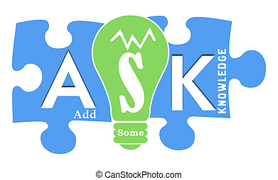Ask Formula Colorful Shapes - ASK - Add Some Knowledge text...