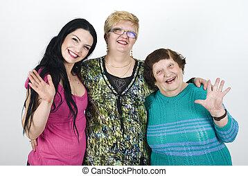 generación, feliz, mujeres