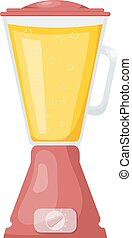 Kitchen blender. Cartoon style. Vector illustration