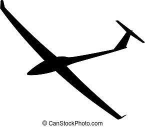 Silhouette of a glider is not a white background Vector...