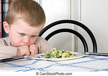 I will not eat - Four year old boy refusing to eat his...