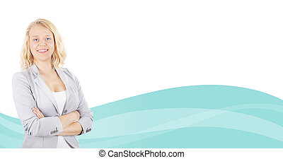 Copy Space and Business woman - Business Copy Space with...