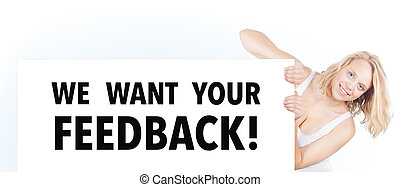 We want your feedback banner - We want your feedback Banner...