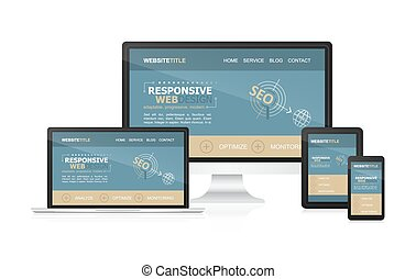 Responsive design and web devices Concept for your website...