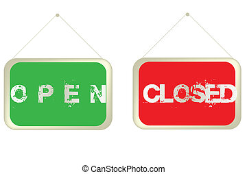 Open and Closed banners