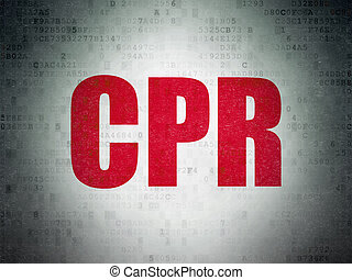 Health concept: CPR on Digital Paper background - Health...