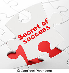 Business concept: Secret of Success on puzzle background -...