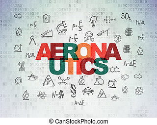 Science concept: Aeronautics on Digital Paper background -...