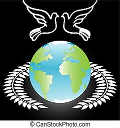 White Dove On Globe