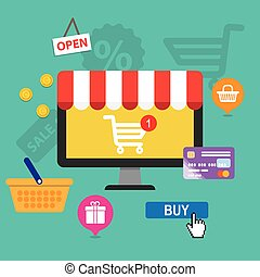 concepts online shopping and e-commerce