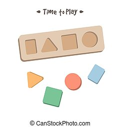 Shape sorter puzzle toy for children - Shape sorter puzzle...
