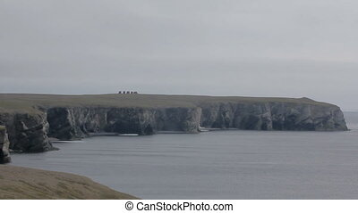 Novaya Zemlya, coast of Barents sea - edge atomic test site....