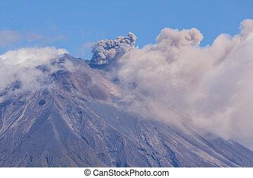 Explosion Of Tungurahua Volcano Ecuador, South America