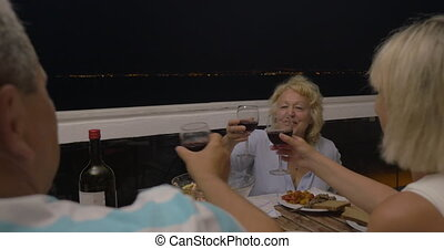 Mature Woman Proposing a Toast