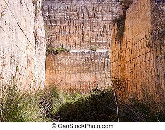 Rock cave, Calascibetta