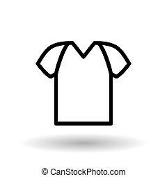 Vector illustration of tshirt , editable icon - tshirt...