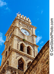 Khan al-Umdan Clock Tower, Acre - Khan al-Umdan Clock Tower...