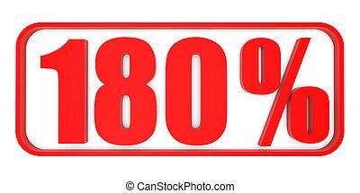 Discount 180 percent off. 3D illustration. - Discount 180...