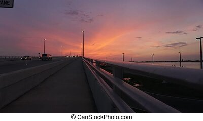 Florida Sunset - Sunset over the bridge leading to...