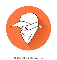 Protester's face symbol - This is an illustration of...
