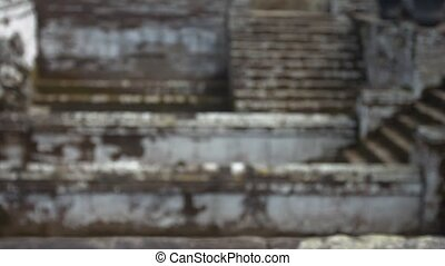 Ancient Stone Steps of A Hindu Temple Ruin in Southeast Asia...
