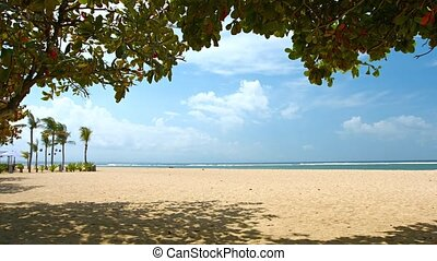quot;Beautiful and Nearly Deserted Tourist Beach in Bali,...