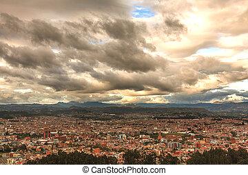 Aerial View Of Cuenca City, Ecuador