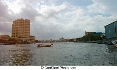 """Cruising along the Chao Phraya River in Bangkok, Thailand""..."