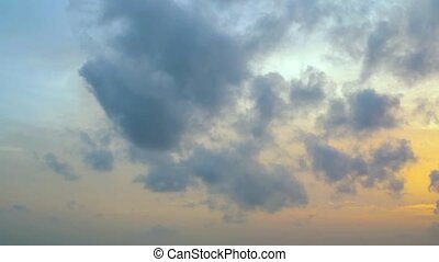 "Fluffy clouds in an early morning sky - ""Soft, fluffy clouds..."