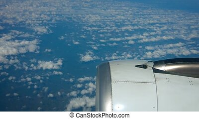 """Airborne Perspective of Altocumulus Clouds over the Ocean,..."