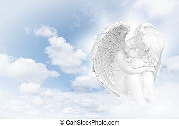 Angels dreams before  sky
