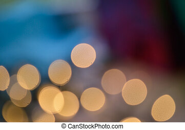 Falling lights - Abstract bokeh photo of twinkle lights at...