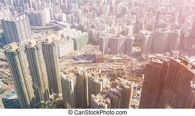 Hong Kongs Complex Urban Highway System from Above video -...