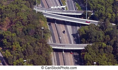 "Complex, Multilevel Highway - ""Overlooking view of a complex..."