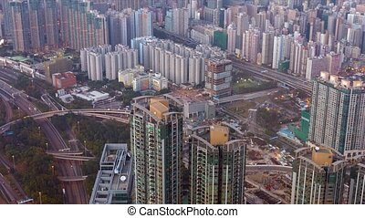 "Hong Kong's Busy Urban Cityscape - ""Overlooking, retreating..."