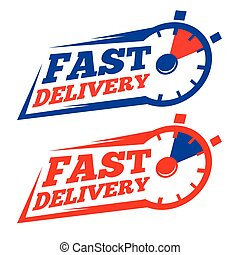 Fast Delivery Logo Icon - Vector stock of fast delivery with...