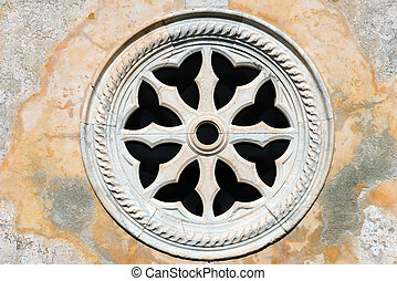 Ancient Rose Window - Portovenere Italy - Detail of an...