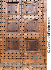 Ancient Wooden Door with Studs
