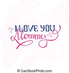 Vector Mothers Day design concept. Hand lettered...