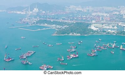 Hong Kong Cityscape and Harbor. video