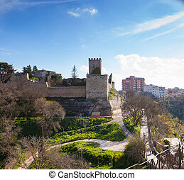 The Castello di Lombardia, Enna - View of the Castello di...