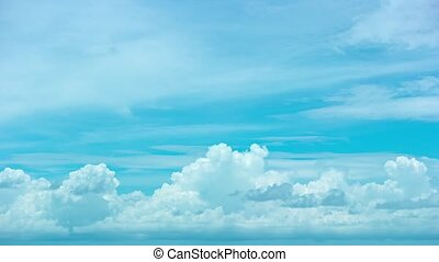quot;Abstract, Timelapse Shot of Clouds Building in the...