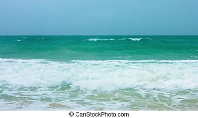 "Gentle Waves with Sea Foam on a Tropical Beach - ""Beautiful..."