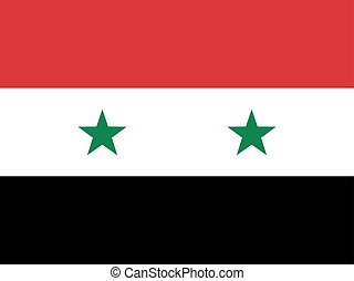 Official national flag of Syria illustration