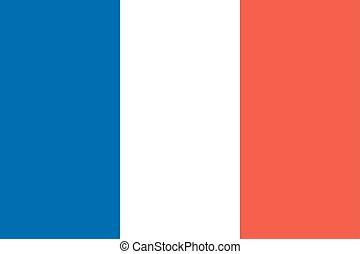 State national flag of France  illustration