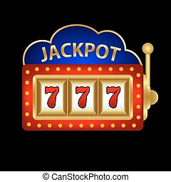 jackpot on a slot machine  illustration