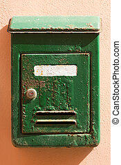 Rusty Metal Mailbox - Portovenere Italy - Detail of an...