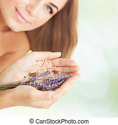 Female in a beauty salon